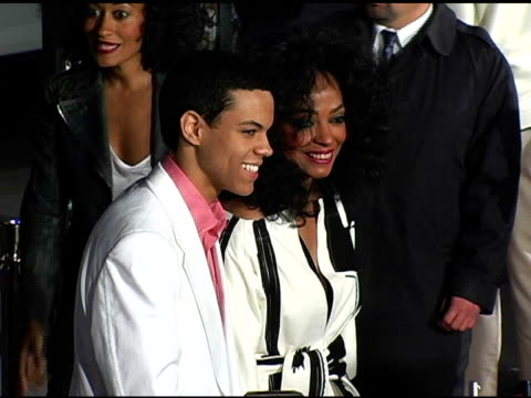 Evan Ross and Diana Ross at the 'ATL' Los Angeles Premiere at Grauman's Chinese Theatre in Hollywood California on March 30 2006
