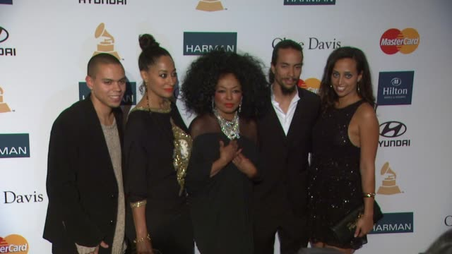 Evan Ross Tracee Ellis Ross Diana Ross Chudney Ross Rhonda Ross Kendrick at Clive Davis And The Recording Academy's 2012 PreGRAMMY Gala And Salute To...