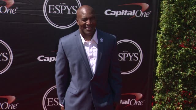 evander holyfield at the 2015 espys at microsoft theater on july 15 2015 in los angeles california - microsoft theater los angeles stock videos and b-roll footage