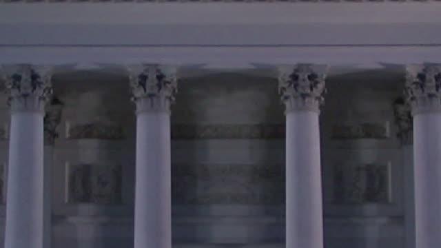 vidéos et rushes de cu, tu, evangelical lutheran cathedral at dusk, helsinki, finland, td - style néoclassique