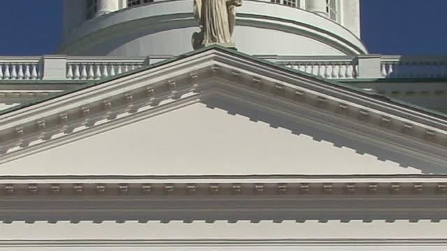 vidéos et rushes de cu, zo, evangelical lutheran cathedral, helsinki, finland - style néoclassique