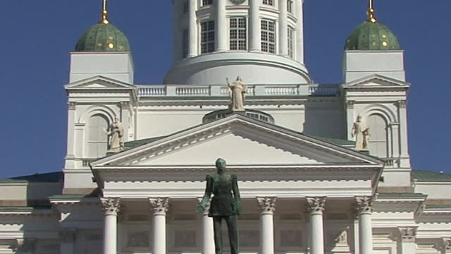 cu, evangelical lutheran cathedral, helsinki, finland - 19th century style stock videos and b-roll footage