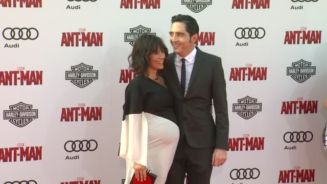 Evangeline Lilly and David Dastmalchian at The World Premiere of Marvel's AntMan at Dolby Theatre on June 29 2015 in Hollywood California
