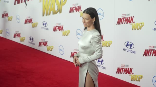 Evangeline Lilly at the 'AntMan and the Wasp' World Premiere at the El Capitan Theatre on June 25 2018 in Hollywood California