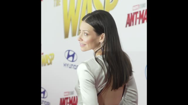 Evangeline Lilly at the AntMan and the Wasp World Premiere