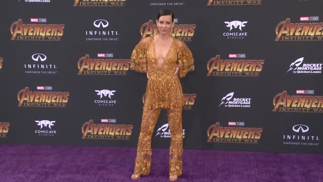 Evangeline Lilly at the Avengers Infinity War World Premiere on April 23 2018 in Hollywood California