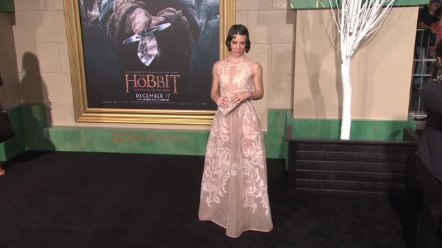 "evangeline lilly at ""the hobbit: the battle of the five armies"" los angeles premiere at dolby theatre on december 09, 2014 in hollywood, california. - the hobbit: the battle of the five armies stock videos & royalty-free footage"