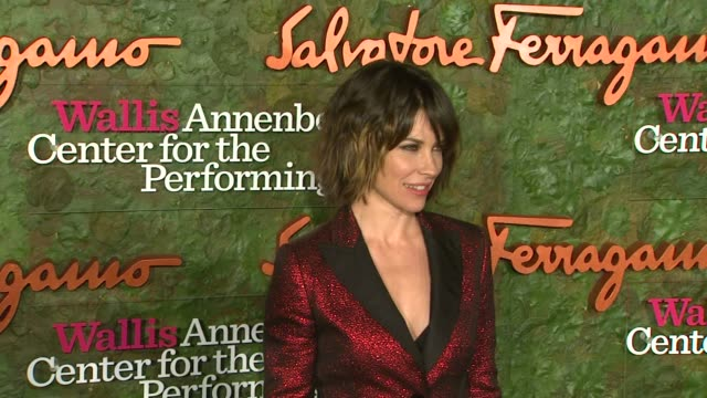 evangeline lilly at wallis annenberg center for the performing arts inaugural gala presented by salvatore ferragamo on 8/17/13 in los angeles, ca . - salvatore ferragamo stock videos & royalty-free footage