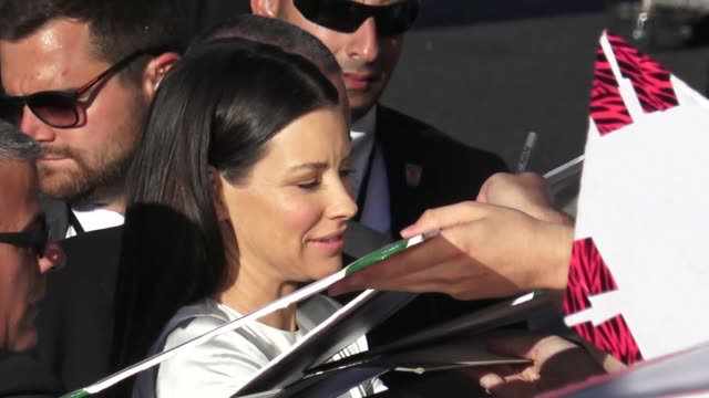 Evangeline Lilly Louis D'Esposito arrive at the AntMan and the Wasp premiere in Hollywood in Celebrity Sightings in Los Angeles