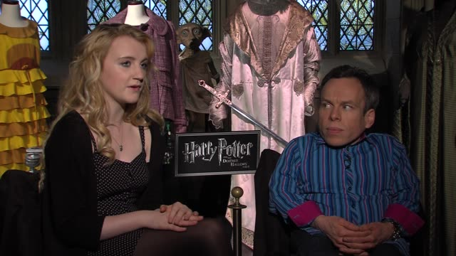evanna lynch and warwick davis on feeling bittersweet feels a sense of achievement but also sadness says the experience will continue for years to... - evanna lynch stock videos & royalty-free footage
