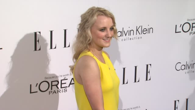 evanna lynch at the elle's 18th annual women in hollywood tribute at beverly hills ca - evanna lynch stock videos & royalty-free footage