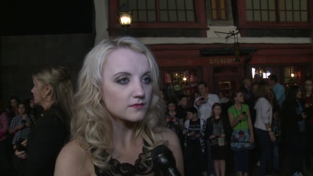 evanna lynch on being at the event and on life after the 'harry potter' films - evanna lynch stock videos & royalty-free footage