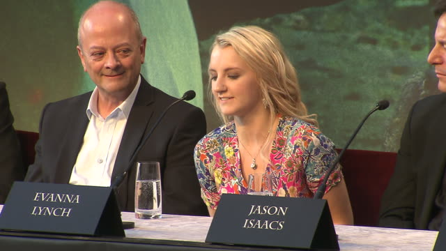 evanna lynch on her favorite line from the films at the harry potter the deathly hallows part 2 press conference at london england - evanna lynch stock videos & royalty-free footage