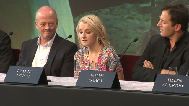 evanna lynch on her favorite prop from the film at the harry potter the deathly hallows part 2 press conference at london england - evanna lynch stock videos & royalty-free footage