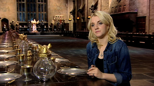 evanna lynch on meeting j k rowling at a tour of the set of harry potter at leavesden studios on march 30 2012 in watford england - evanna lynch stock videos & royalty-free footage