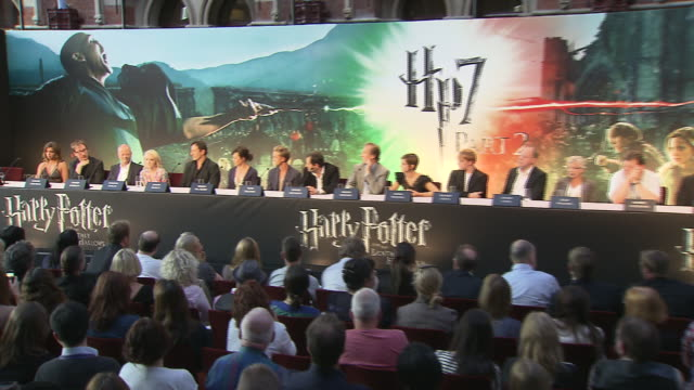 evanna lynch on playing luna her future plans at the harry potter the deathly hallows part 2 press conference at london england - evanna lynch stock videos & royalty-free footage
