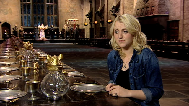 evanna lynch on the studio tour at a tour of the set of harry potter at leavesden studios on march 30 2012 in watford england - evanna lynch stock videos & royalty-free footage