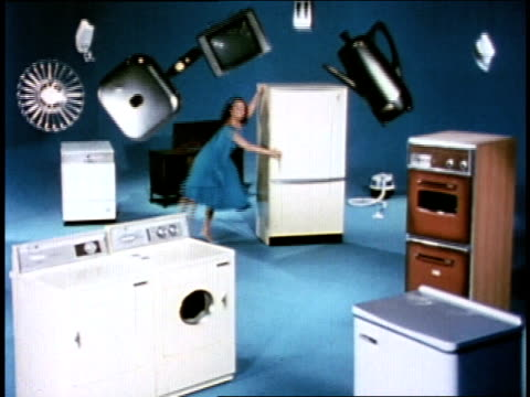 "1966 WS ""Eve"" dancing around appliances"