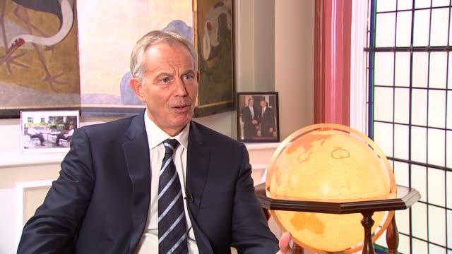 Eve of 10th anniversary of London 7/7 bombings Tony Blair interview ENGLAND London INT Tony Blair interview SOT