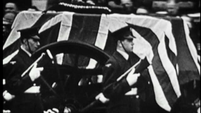 eve of 50th anniversary of sir winston churchill's state funeral 1965 b/w footage state funeral of sir winston churchill with sir lawrence olivier... - funeral stock videos & royalty-free footage