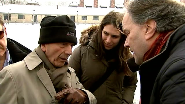 eve of auschwitz 70th anniversary: stories of holocaust survivors; dario gabbai interview sot - sometimes i had some friends of mine come and i told... - survival stock videos & royalty-free footage