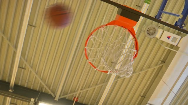 evelyn grace academy improve behaviour and results by hiring national quality coaches; low angle shot basketball net as balls fall through hoop - shooting baskets stock videos & royalty-free footage