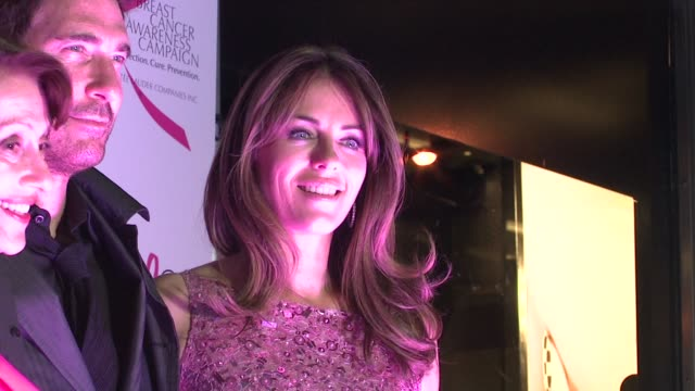 Evelyn Lauder Dylan McDermott and Elizabeth Hurley at the 10th Anniversary of Estee Lauder Raising Funds for Breast Cancer at New York NY