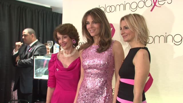 Evelyn Lauder Elizabeth Hurley and Marisa Acocella Marchetto at the 10th Anniversary of Estee Lauder Raising Funds for Breast Cancer at New York NY