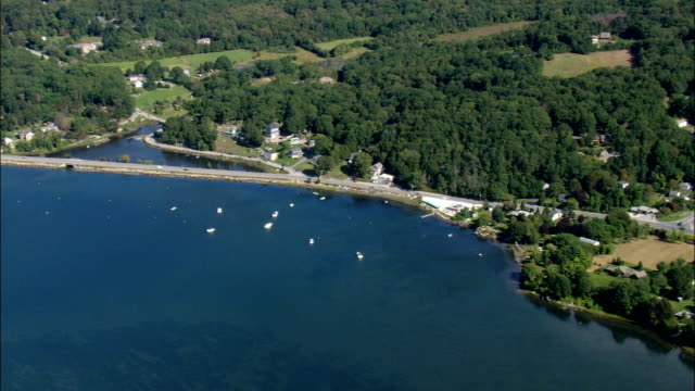 Evelyn's Drive In Seafood Restaurant  - Aerial View - Rhode Island, Newport County, United States