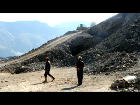 even as the drama of dozens of stranded miners unfolded in a nearby mine, other chilean copper miners continued at their work on friday in a... - other stock videos & royalty-free footage
