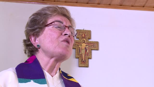 even though they are rejected by the vatican four colombian women have been ordained priests by a fringe group demanding religious gender equality... - priest stock videos & royalty-free footage