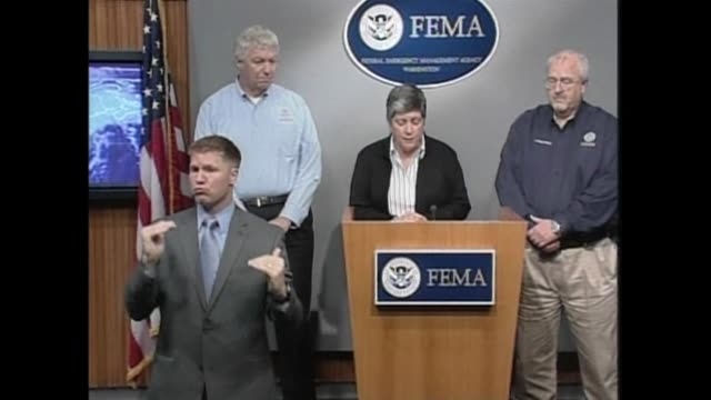 even with hurricane irene downgraded to a tropical storm, us secretary of homeland security janet napolitano said power outages, flooding, and downed... - hurricane irene stock videos & royalty-free footage