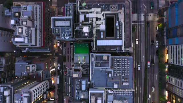 stockvideo's en b-roll-footage met evening aerial view of shimbashi city, tokyo - stadsdeel