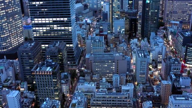 vídeos y material grabado en eventos de stock de evening aerial view of shimbashi city,tokyo - zona urbana
