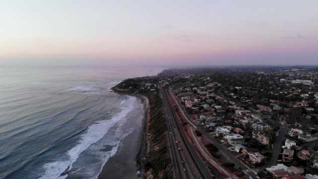 evening along the coast - railway track stock videos & royalty-free footage