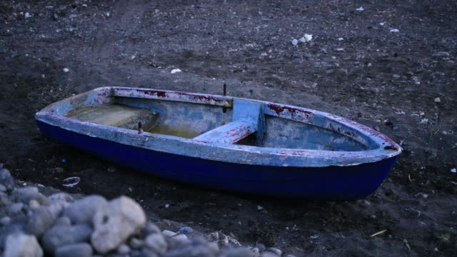 evening boat on land - rowing boat stock videos & royalty-free footage