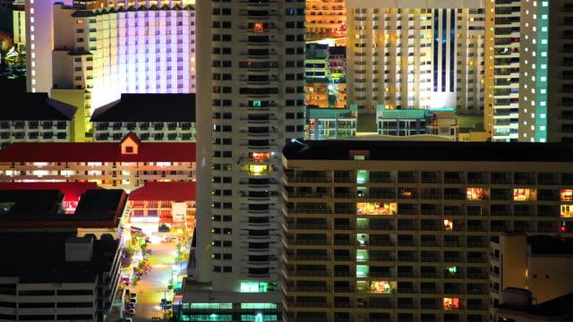 Evening city timelapse