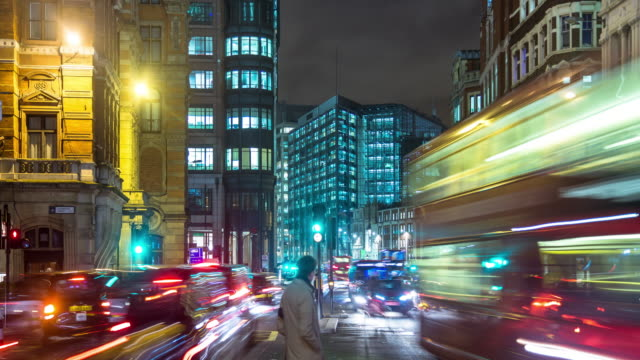 Evening Commute in the City of London - Timelapse