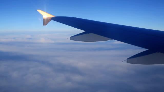 Evening flight view of the window plane.