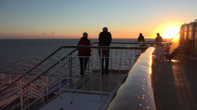 vídeos de stock, filmes e b-roll de evening mood on a ferry ship on baltic sea, norway, scandinavia, europe - escandinávia
