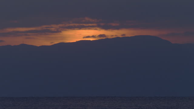evening of shonan coast - 相模湾点の映像素材/bロール