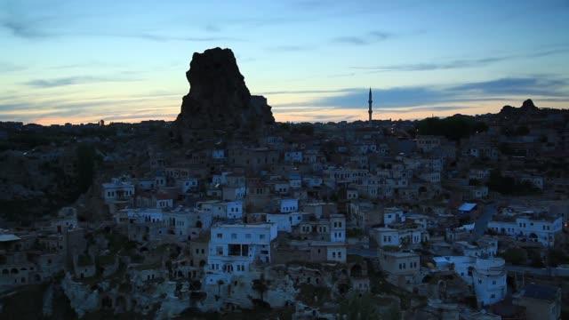 evening pray in ortahisar, cappadocia, turkey - cappadocia stock videos and b-roll footage