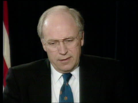 washington: cms dick cheney intvwd sof - hussein is not mentally stable: - dick cheney stock videos & royalty-free footage