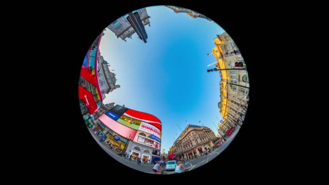evening rush hour in london's piccadilly circus. - circle stock videos & royalty-free footage