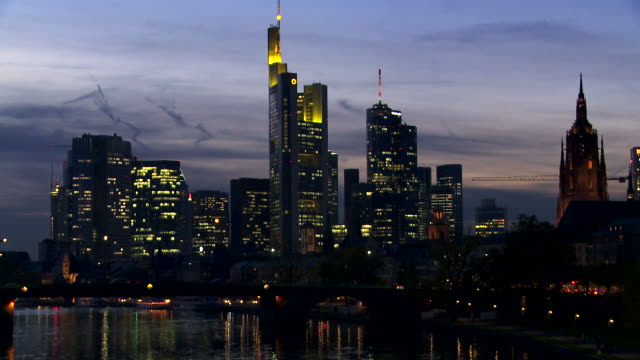 PAN Evening Skyline Of Frankfurt Am Main