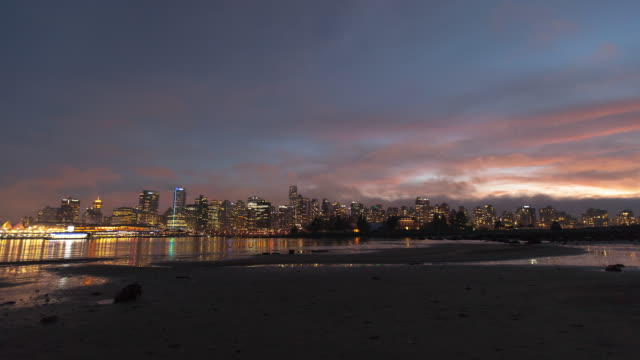 Evening Skyline Timelapse of Vancouver