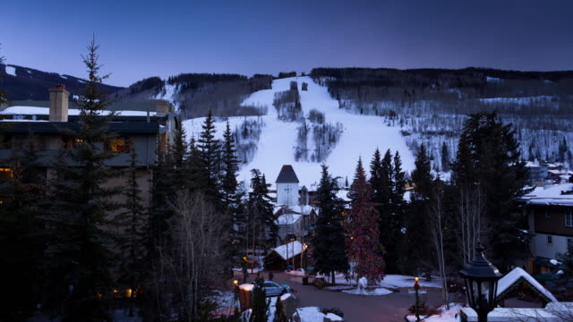 Evening Snow in Vail, Colorado - Time Lapse