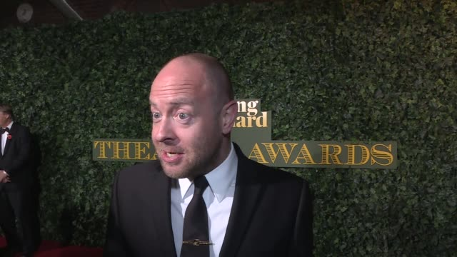 red carpet arrivals jack thorne gvs / sheridan smith gvs / john tiffany interview sot / sir patrick stewart and lady sunny stewart gvs / lord andrew... - sheridan smith stock videos & royalty-free footage