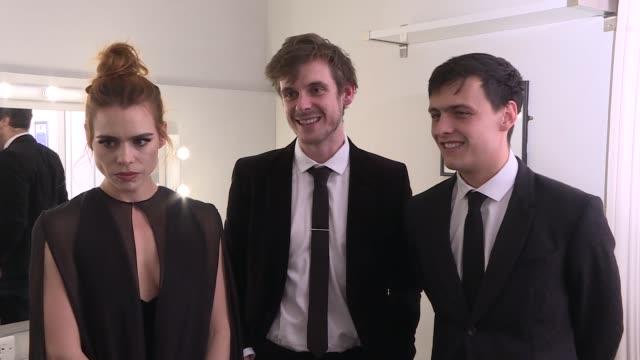 winners' room interviews Billie Piper Joe Robertson and Joe Murphy interview SOT