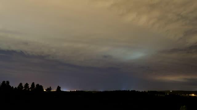 Evening storm, timelapse